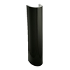 KOHLER 27-in H Wellworth Black Black Vitreous China Pedestal Sink Base