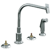 KOHLER Triton Polished Chrome 2-Handle High-Arc Kitchen Faucet with Side Spray