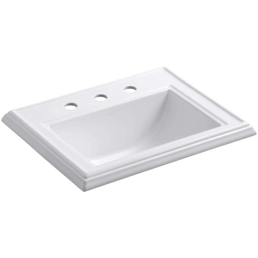 Bathroom Sink Drop In : Shop KOHLER Memoirs White Drop-In Rectangular Bathroom Sink with ...