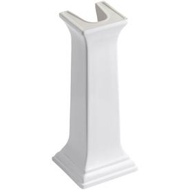 KOHLER 27-3/8-in H Memoirs White Fireclay Pedestal Sink Base