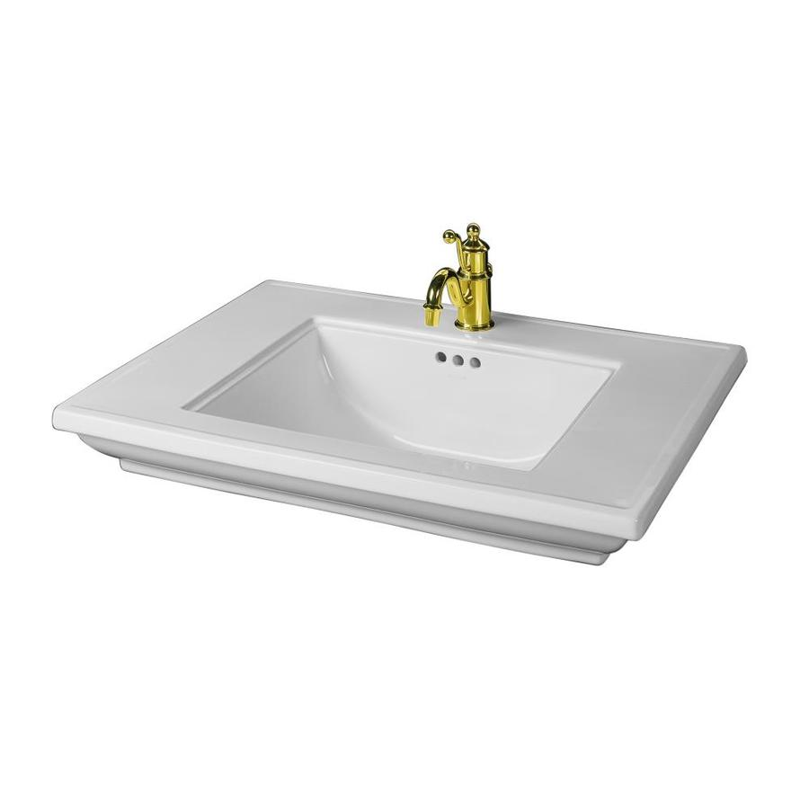 Bathroom Sink Drop In : ... Fire Clay Drop-In Rectangular Bathroom Sink with Overflow at Lowes.com