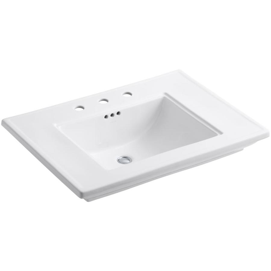 Memoirs Kohler Sink : Shop KOHLER Memoirs White Fire Clay Drop-In Rectangular Bathroom Sink ...