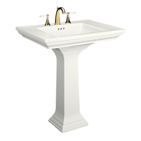 KOHLER Memoirs 34.75-in H White Fire Clay Complete Pedestal Sink