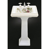 KOHLER 34-3/8-in H Memoirs White Fire Clay Complete Pedestal Sink