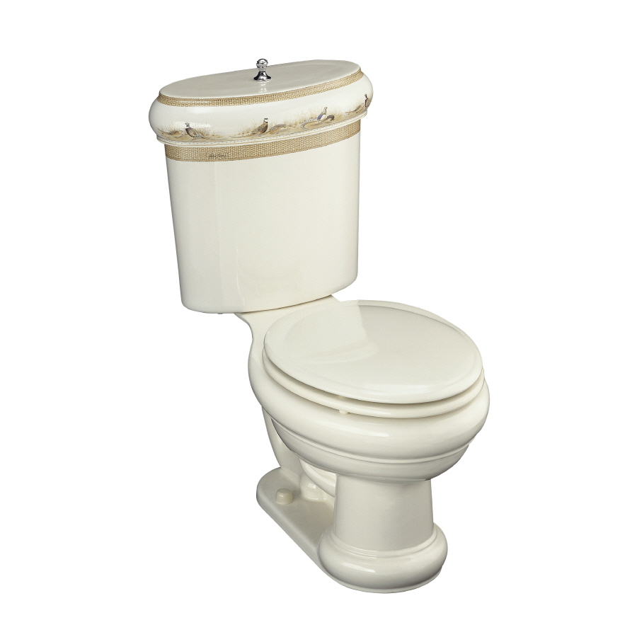 Shop KOHLER Biscuit Rough-In Elongated Toilet at Lowes.com