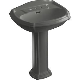 36 Pedestal Sink : ... Portrait 36.5-in H Thunder Grey Vitreous China Complete Pedestal Sink