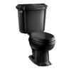 KOHLER Black Black Rough-In Elongated Toilet