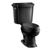 KOHLER Portrait Black Black 1.6-GPF (6.06-LPF) 12 Rough-In Elongated 2-Piece Comfort Height Toilet