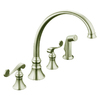 KOHLER Revival 2-Handle High-Arc Kitchen Faucet with Side Spray