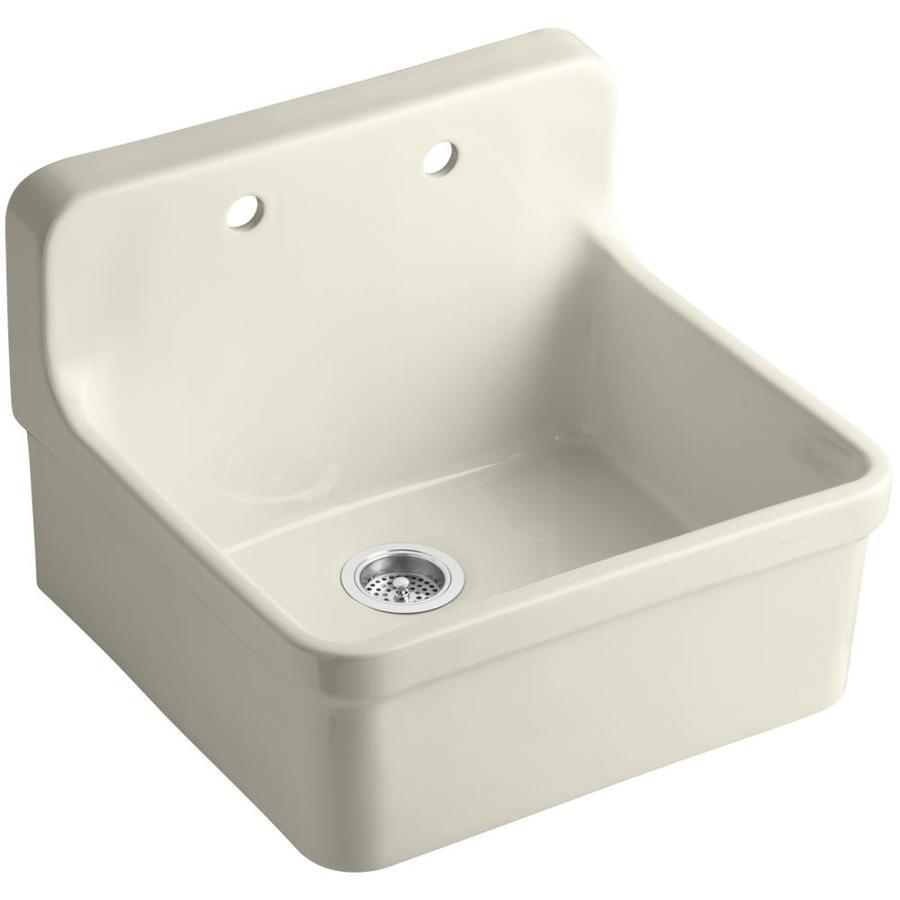 Shop KOHLER Gilford Single-Basin Drop-in Porcelain Kitchen Sink at ...