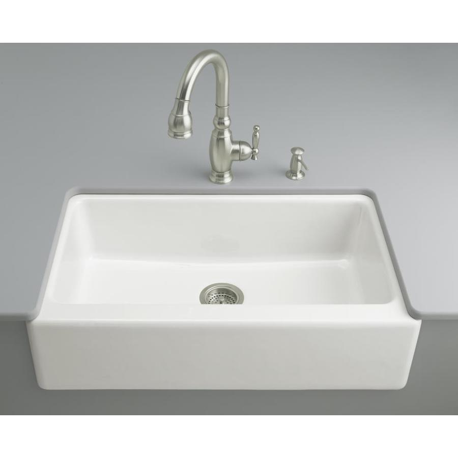 Sink Undermount : ... Dickinson White Single-Basin Undermount Kitchen Sink at Lowes.com