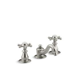 KOHLER Antique Vibrant Brushed Nickel 2-Handle Widespread WaterSense Bathroom Faucet (Drain Included)
