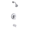 KOHLER Coralais Polished Chrome 1-Handle Bathtub and Shower Faucet Trim Kit with Single Function Showerhead