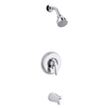 KOHLER Coralais Polished Chrome 1-Handle Bathtub and Shower Faucet Trim Kit