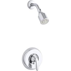 KOHLER Coralais Polished Chrome 1-Handle Shower Faucet Trim Kit with Single Function Showerhead