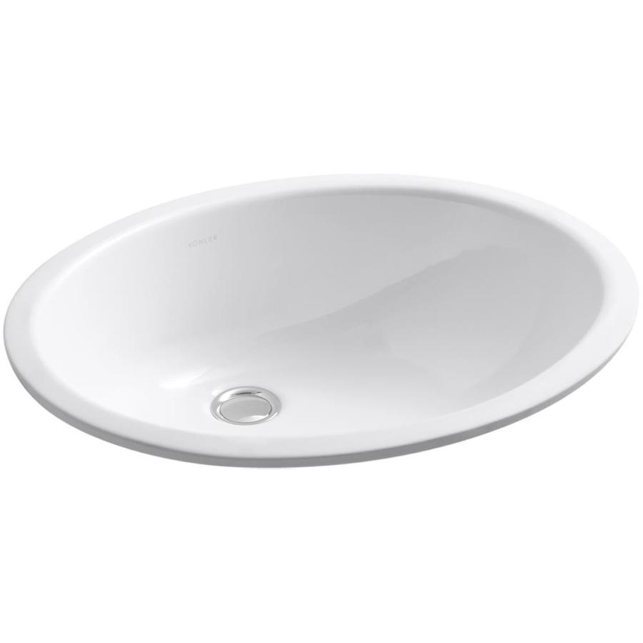 Kohler Undermount Bathroom Sinks : Shop KOHLER Caxton White Undermount Oval Bathroom Sink at Lowes.com