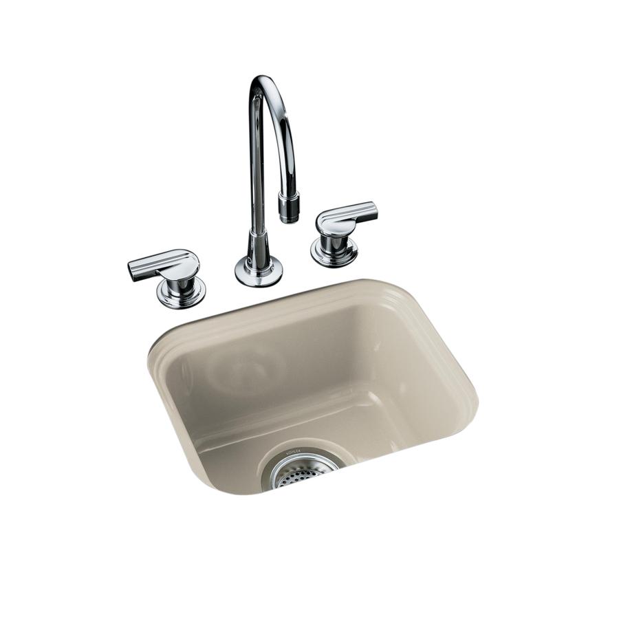 KOHLER Northland Single-Basin Undermount Enameled Cast Iron Bar Sink ...