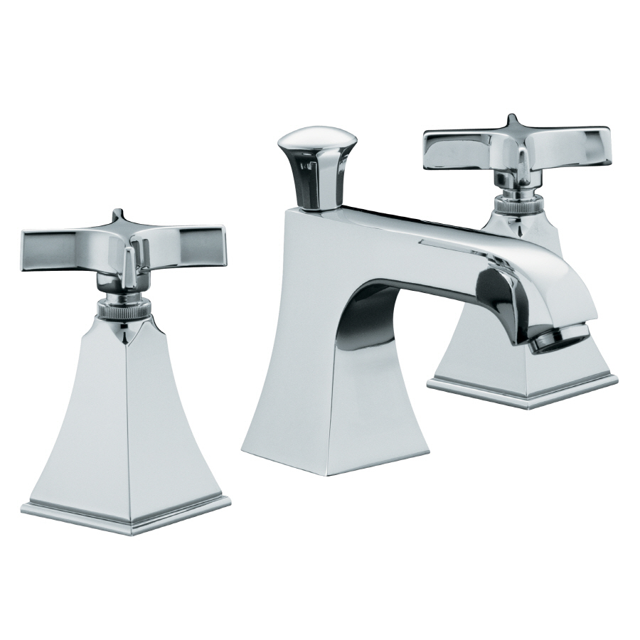 KOHLER Memoirs Polished Chrome 2 Handle Widespread WaterSense Bathroom Faucet (Drain Included)