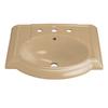 KOHLER Devonshire 24.125-in L x 19.75-in W Vitreous China Oval Pedestal Sink Top