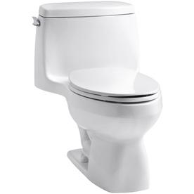 KOHLER Santa Rosa White 1.6-GPF (6.06-LPF) 12-in Rough-In Elongated Standard Height Toilet