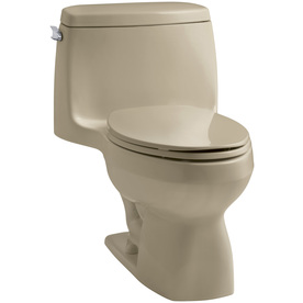 KOHLER Santa Rosa Mexican Sand 1.6 GPF Elongated 1-Piece Toilet