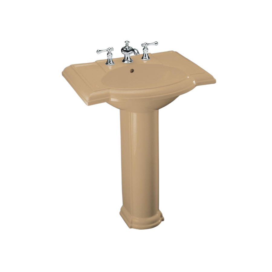 Kohler Pedestal : Shop KOHLER Devonshire 33.5-in H Mexican Sand Vitreous China Complete ...