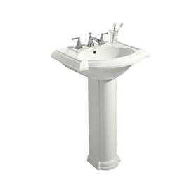 KOHLER Devonshire 33.5-in H White Vitreous China Complete Pedestal Sink