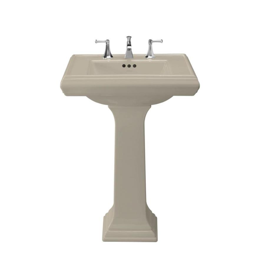 Memoirs Kohler Sink : Shop KOHLER Memoirs 35-in H Sandbar Fire Clay Complete Pedestal Sink ...