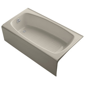kohler dynametric sandbar cast iron rectangular skirted bathtub with
