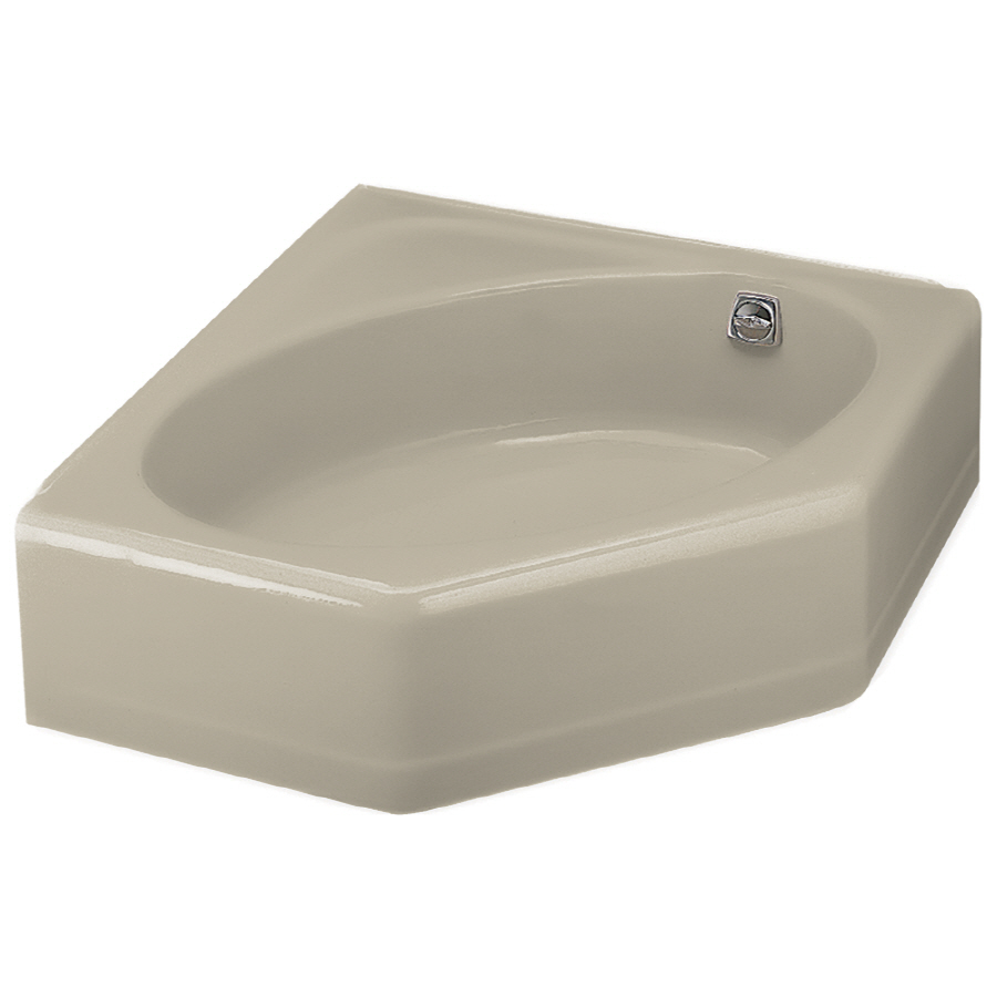 sandbar corner skirted bathtub with right hand drain at