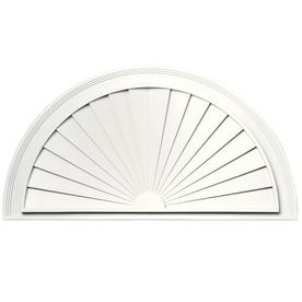 Vantage 37-1/2-in x 19-5/8-in White Vinyl Window Sunburst