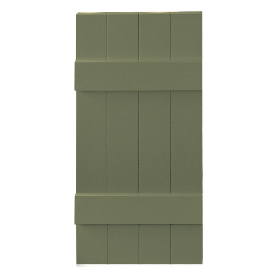 Shop Vantage 2 Pack Colonial Green Board And Batten Vinyl Exterior Shutters Common 31 In X 14