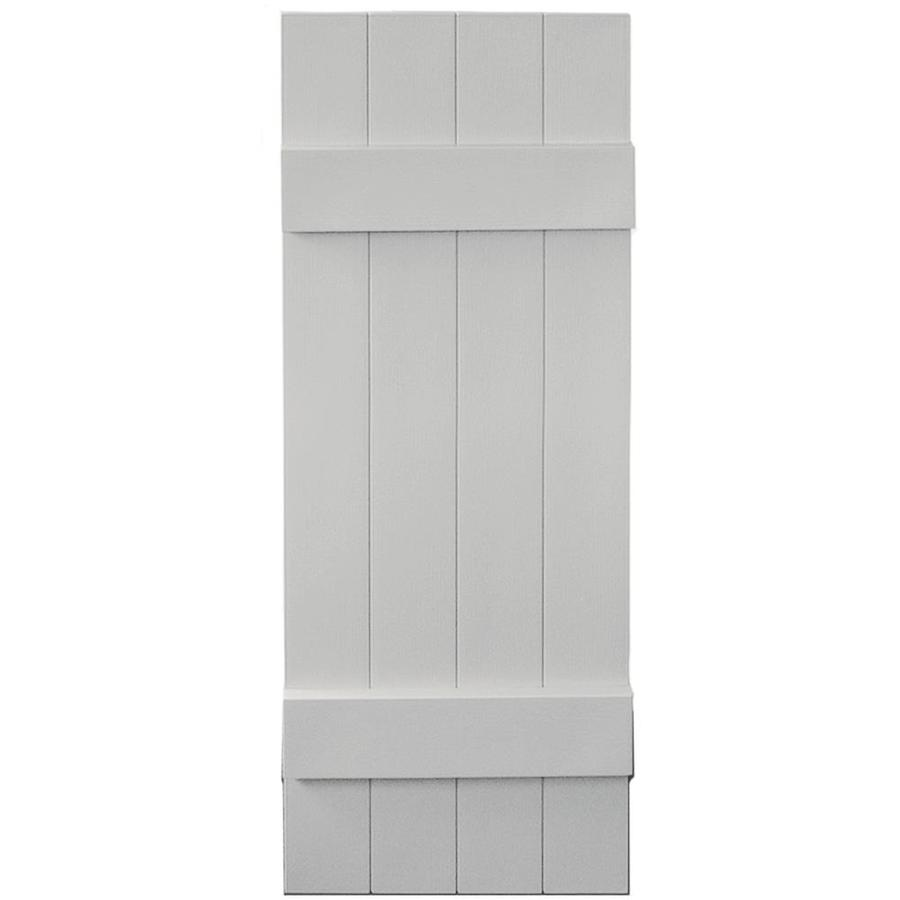 Shop Vantage 2 Pack Paintable Board And Batten Vinyl Exterior Shutters Common 39 In X 14 In