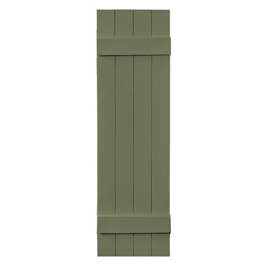 Shop Vantage 2 Pack Colonial Green Board And Batten Vinyl Exterior Shutters
