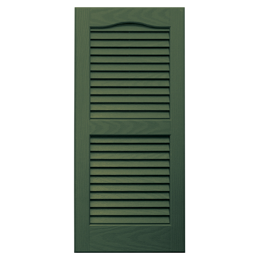 Shop Vantage 2 Pack Moss Louvered Vinyl Exterior Shutters Common 31 In X 14 In Actual
