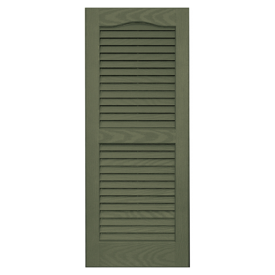 Shop Vantage 2 Pack Colonial Green Louvered Vinyl Exterior Shutters Common