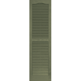 Vantage 2-Pack 14-in x 51-in Green Louvered Vinyl Exterior Shutters