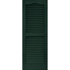 Shop Vantage Midnight Green Louvered Vinyl Exterior Shutter Common 39 In X