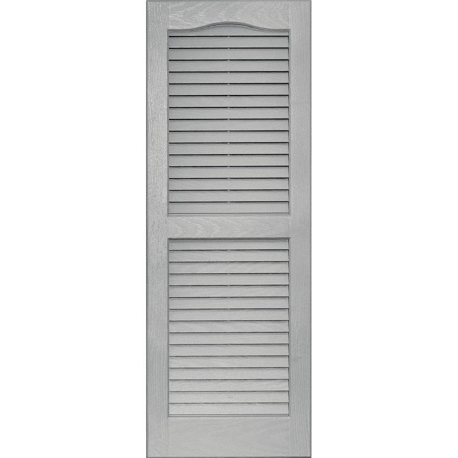 Shop Vantage Paintable Louvered Vinyl Exterior Shutter Common 39 In X 14 In