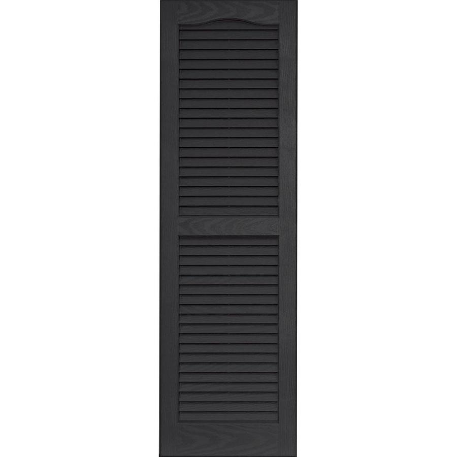 Shop Vantage 2 Pack Black Louvered Vinyl Exterior Shutters Common 47 In X 14 In Actual 46