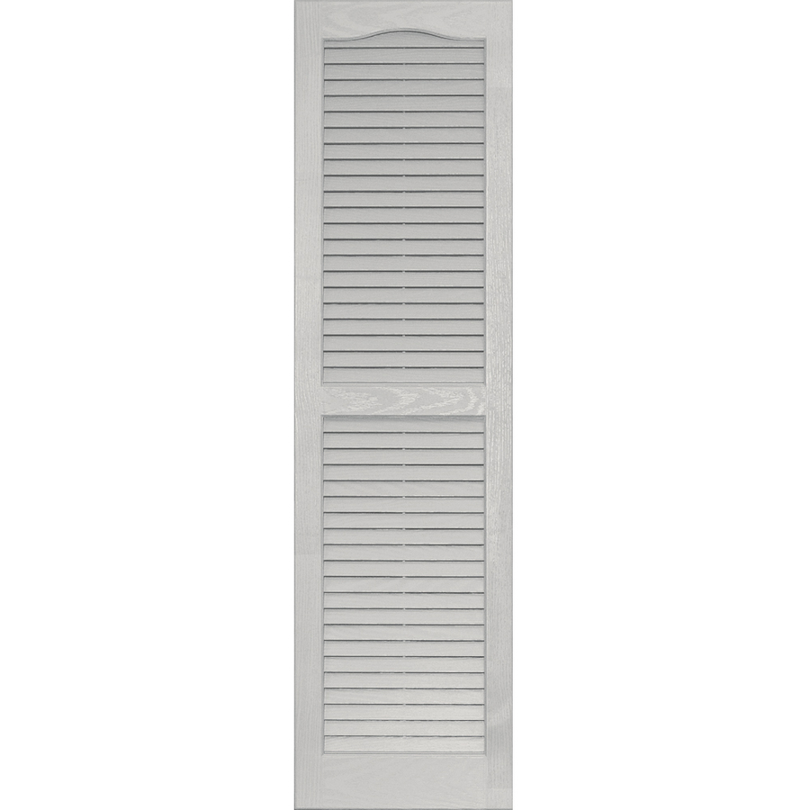 Shop Vantage Paintable Louvered Vinyl Exterior Shutter Common 51 In X 14 In