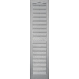 Shop Vantage Paintable Louvered Vinyl Exterior Shutter Common 59 In X 14 In