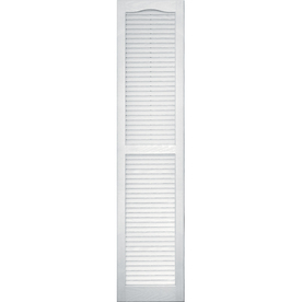 Shop Vantage White Louvered Vinyl Exterior Shutters Common 14 In X 63 In A