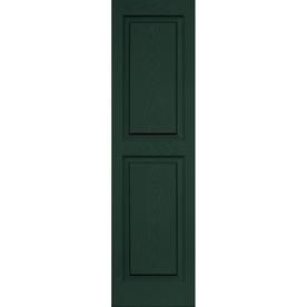 Shop Vantage Midnight Green Raised Panel Vinyl Exterior Shutter Common 51 I