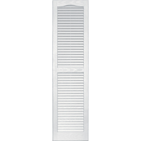 Shop Vantage White Louvered Vinyl Exterior Shutters Common 14 In X 55 In A