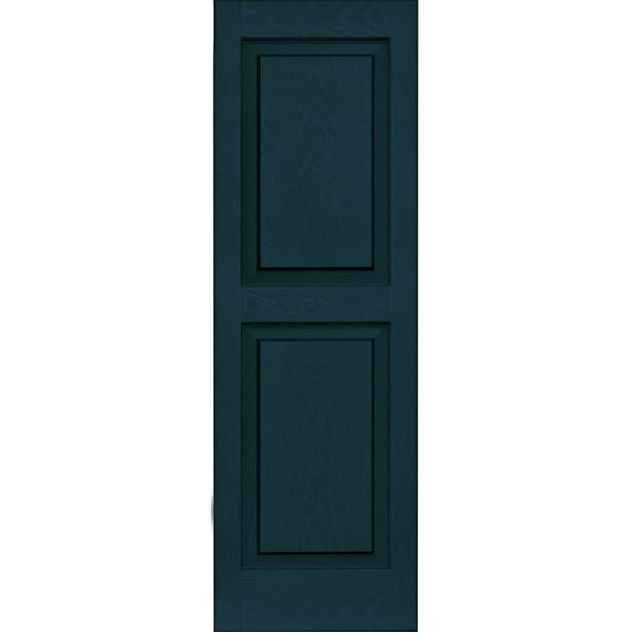 Shop Vantage 2 Pack Indigo Blue Raised Panel Vinyl Exterior Shutters Common 43 In X 14 In