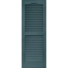 Vantage 2-Pack Wedgewood Blue Louvered Vinyl Exterior Shutters (Common: 39-in x 14-in; Actual: 38.68-in x 13.875-in)