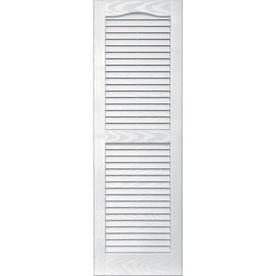 Vantage 2-Pack White Louvered Vinyl Exterior Shutters (Common: 14-in x 43-in; Actual: 13.875-in x 42.6875-in)