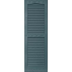 Vantage 2-Pack 14-in x 43-in Wedgewood Blue Louvered Vinyl Exterior Shutters