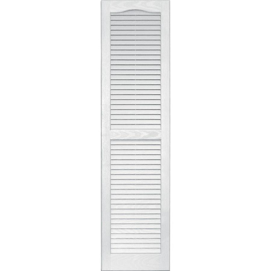 Shop Vantage 2 Pack White Louvered Vinyl Exterior Shutters Common 55 In X 1